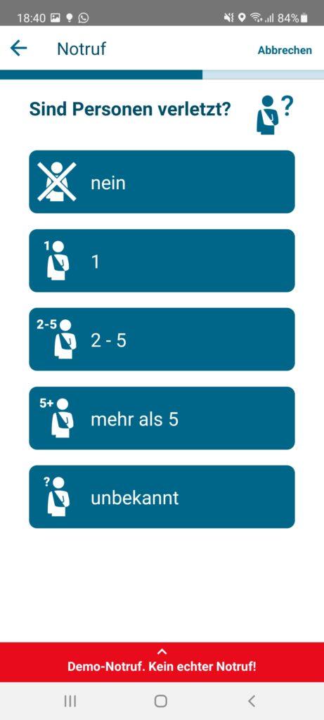 Schritt 5: Wie viele Personen sind verletzt?