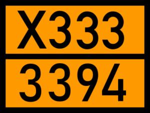 Gefahrentafel UN 3394